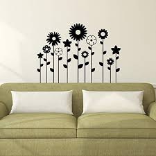 Amazon Com 11 Pack Of Beautiful Mixed Flowers Vinyl Wall Art Decal 23 X 32 Bedroom Living Room Wall Decoration Apartment Vinyl Decal Wall Decor Cute Floral Wall Decor