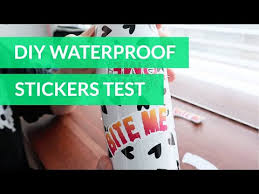 How To Make Waterproof Stickers Cricut Youtube