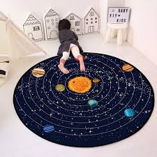 Space Universe Clouds Round Area Rugs Living Room Bedroom Kids Room Round Carpets Baby Room Playing Mat Anti Skidding Wish