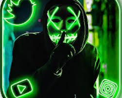 neon mask cool man theme live