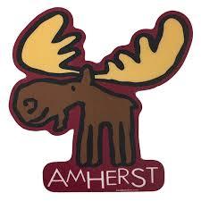 Amherst Moose Sticker Umass Store