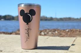 Vinyl Decal Personalized Disney Mickey Or Minnie Balloons Etsy Personalized Tumblers Vinyl Decals Disney Cups Disney Decals