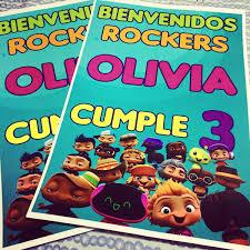 Mini Beat Power Rockers Kit Impreso Cumple Candybar 12 Inv