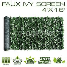Amazon Com Colourtree 4 X 16 Artificial Hedges Faux Ivy Leaves Fence Privacy Screen Cover Pa In 2020 Artificial Hedges Outdoor Privacy Panels Faux Greenery Outdoor