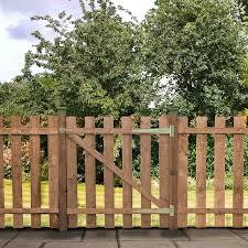3 X 3 Pressure Treated Flat Top Picket Wooden Garden Gate Waltons