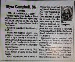 Myra Rachel Sartell Campbell (1903-1999) - Find A Grave Memorial