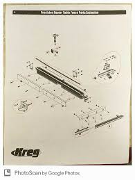 Help Older Kreg Precision Router Fence Need Parts Kreg Owners Community