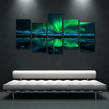 Aurora Northern Lights Starry Canvas Wall Art Addyzeal Com