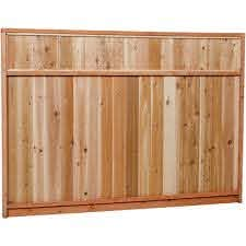 Unbranded 6 Ft X 8 Ft Premium Cedar Solid Top Fence Panel With Stained Spf Frame Actual Size 68 3 8 In H X 96 In W 6x8stp The Home Depot
