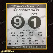 i99DNA - หวยซองเสือตกถังพลังเงินดี บ-ล งวดวันที่ 1/06/63...