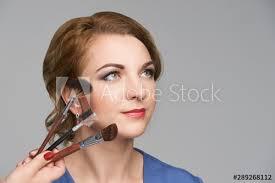 woman make makeup face cosmetic skin