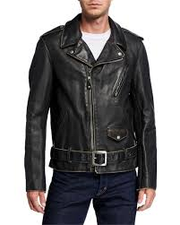 schott nyc men s aged cowhide leather