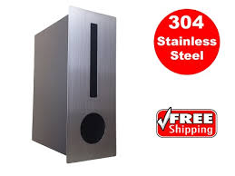 Stainless Fence Mount Letterbox Great Grab
