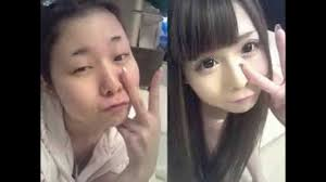 anese s with and without make up