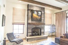 barn grey fireplace wood wall