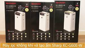 Review máy lọc không khí và tạo ẩm Sharp KC-G60EV-W (50m²) - YouTube