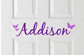 Bedroom Door Decal Personalized Kids Door Kids Room Decor Kids Door Name Sticker Kid Room Decor Door Decals Kids Door Signs