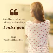 write on girl image miss u quotes for best friend