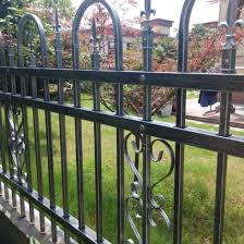 China High Quality Steel Metal Picket Fence Panels In Stock For America China Fence Fencing