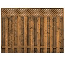 Micro Pro Sienna Treated Wood Lattice Top Fence Panel The Home Depot Canada