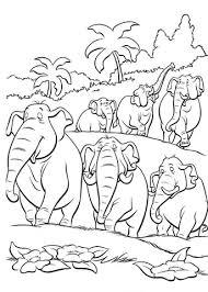 Olifanten In De Jungle Kleurplaat Gratis Kleurplaten Printen