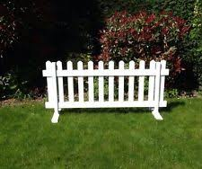 Upvc Plastic Vinyl Pvc Temporary Picket Fence Panel Free Standing Barrier Event