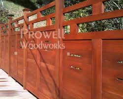 Horizontal Ranch Style Wood Fence Panel 38 By Prowell Woodworks
