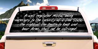 2nd Amendment American Flag Rear Window Graphic Perf Decal Free Shipping 1922805316
