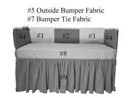 custom baby bedding set gray chevron