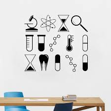 Diy Removable Science Wall Art Stickers University School Laboratory Chemistry Vinyl Decal Mural Classroom Home Decoration S516 Home Decor Wall Art Stickersvinyl Decal Aliexpress