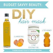 diy hair mask the budget savvy bride