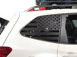 Amazon Com Usa American Flag Decals For Subaru Forester In Matte Black For Side Windows Fits 2019 2020 Qb15a Handmade