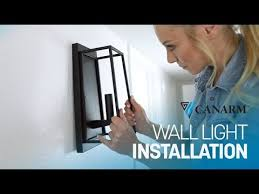 how to install wall lighting canarm