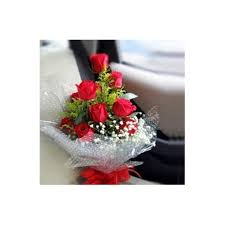 send 12 red roseatch greenery to