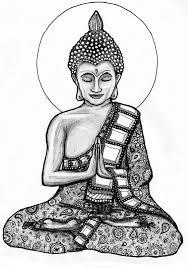 Buddha 2 Kleuren Tatoeageonwerpen En Kleurplaten Voor Volwassenen