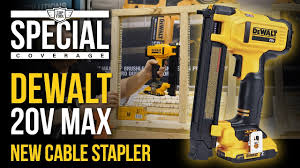 New Dewalt 20v Max Cordless Electrical Cable Stapler Dcn701 At Stafda 2018 Youtube