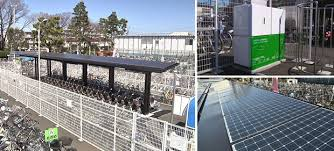 Sanyo S Solar Bike Sheds Green Power Healthy And Clever