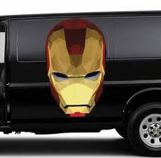 Iron Man Helmet Car Body Full Color Graphics Decal Sticker Fit Any Auto Ebay