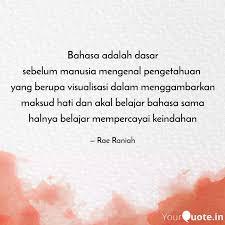 bahasa adalah dasar sebel quotes writings by karimah irma