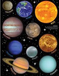 Outer Space Glitter 3d Puffy Wall Sticker 18 Decals Room Decor Planet Rockets