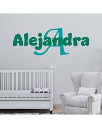 New Deals On Personalized Girl S Name And Initial Wall Decal Choose Your Own Name Initial And Letter Styles Multiple Sizes Girl S Nursery Room Girl S Nursery Wall Decor Girl S Name Wall Decal Sticker