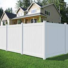 6x6 Pro White Vinyl Privacy Fence Panel Kit At Menards Privacy Fence Panels Vinyl Privacy Fence Fence