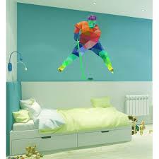 Shop Hockey Player Polygonal Wall Decal Ice Hockey Polygon Modern Wall Art Hockey Sticker Overstock 31905099