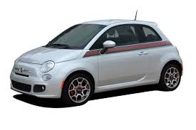 2007 2018 Fiat 500 Italian Applique Gucci Red And Green Door Stripes Vinyl Graphic Kit