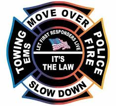 Move Over It S The Law Firefighter Police Towing Ems Exterior Window Decal Ebay