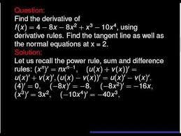 calculus problem find the derivative