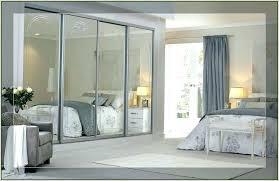 mirrored bifold closet doors frameless