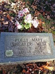 Mary Catherine West (Shearer) (1801 - 1889) - Genealogy