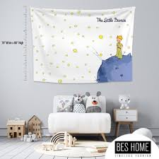 Little Prince 2 Kids Room Nursery Fabric Wall Hanging Tapestry Textile Wall Hang Wall Decoration Kids Room Decor Nursery Tapestry Wall Art