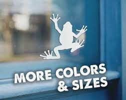 Frog Decal Etsy